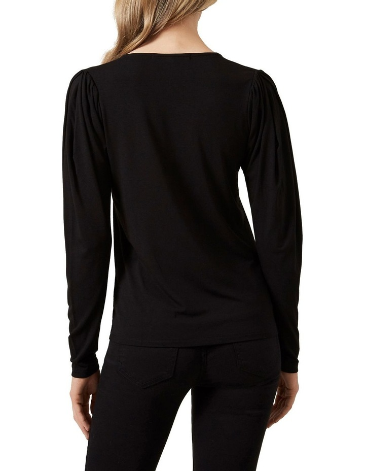 V Neck Puff Sleeve T Shirt image 3