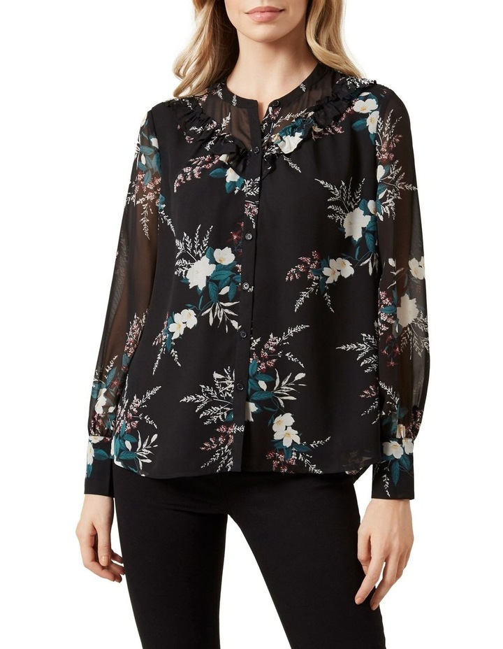 Winter Floral Frill Shirt image 1