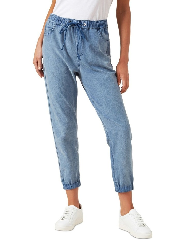 Relaxed Cuffed Denim Jogger image 1