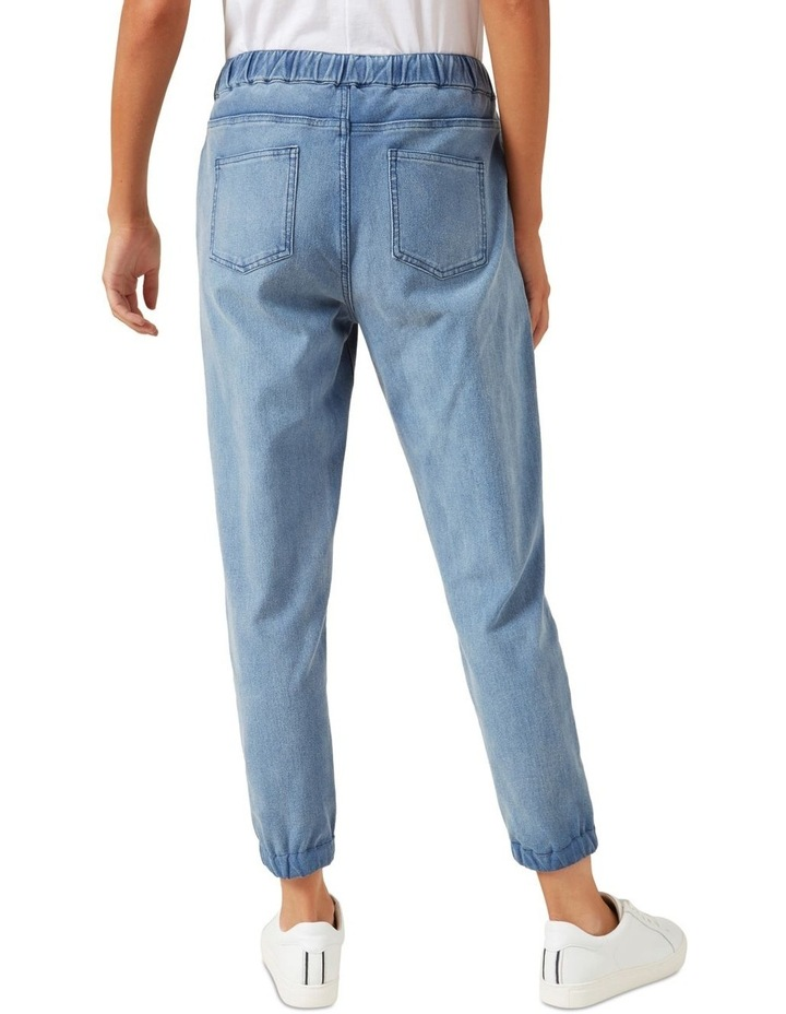 Relaxed Cuffed Denim Jogger image 3