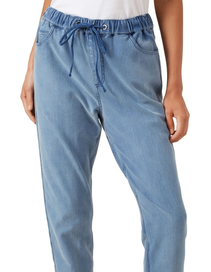 Relaxed Cuffed Denim Jogger image 4