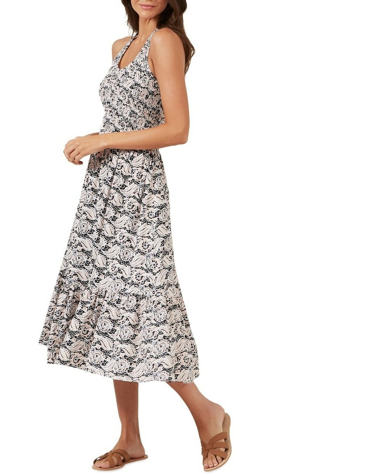 Shirred Halter Midi Dress image 1
