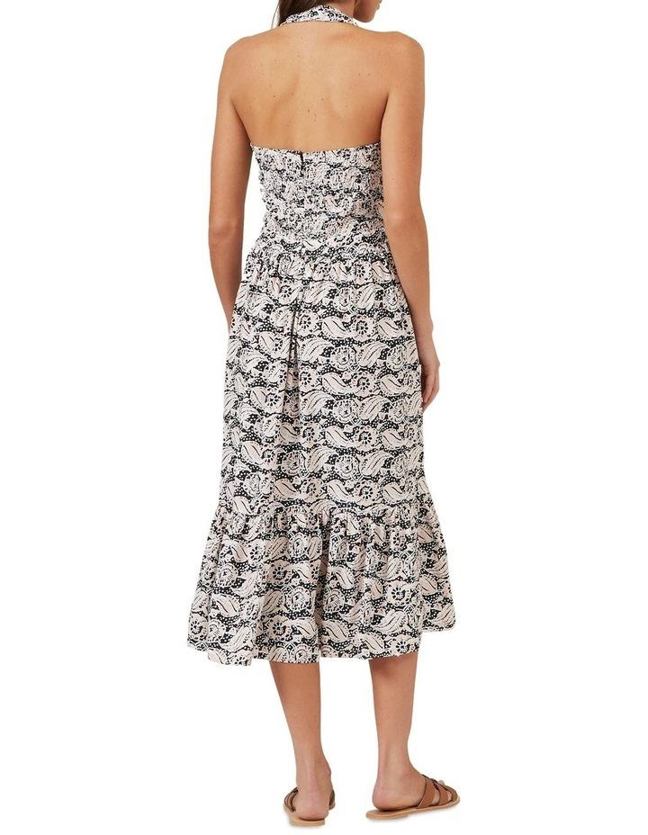 Shirred Halter Midi Dress image 3