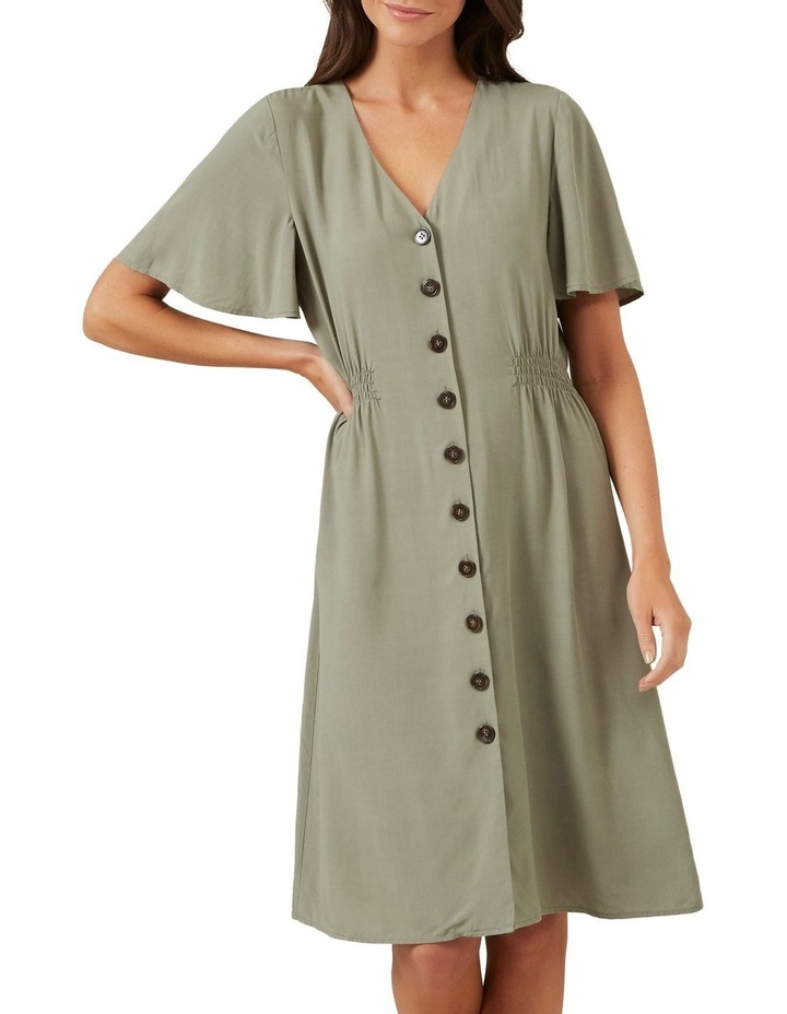 Flutter Sleeve Midi Dress image 1