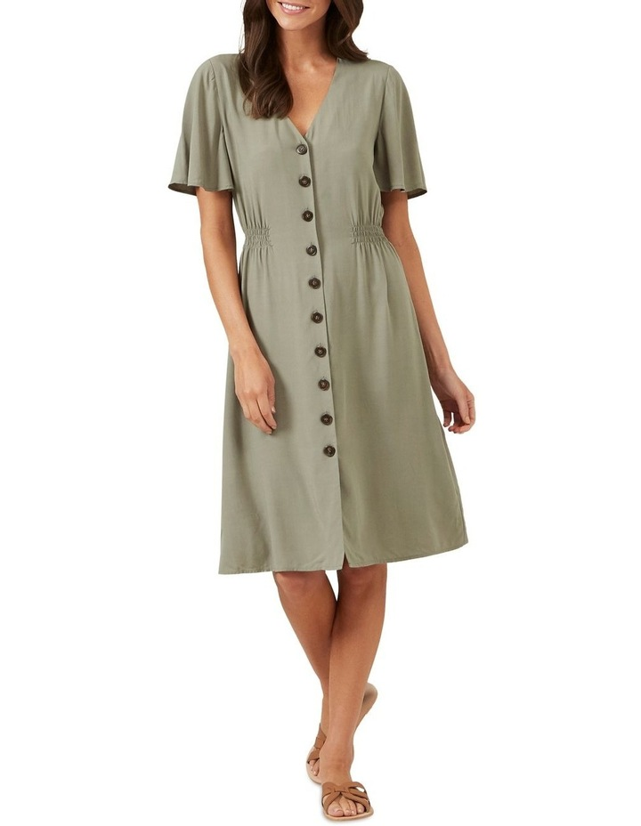 Flutter Sleeve Midi Dress image 2