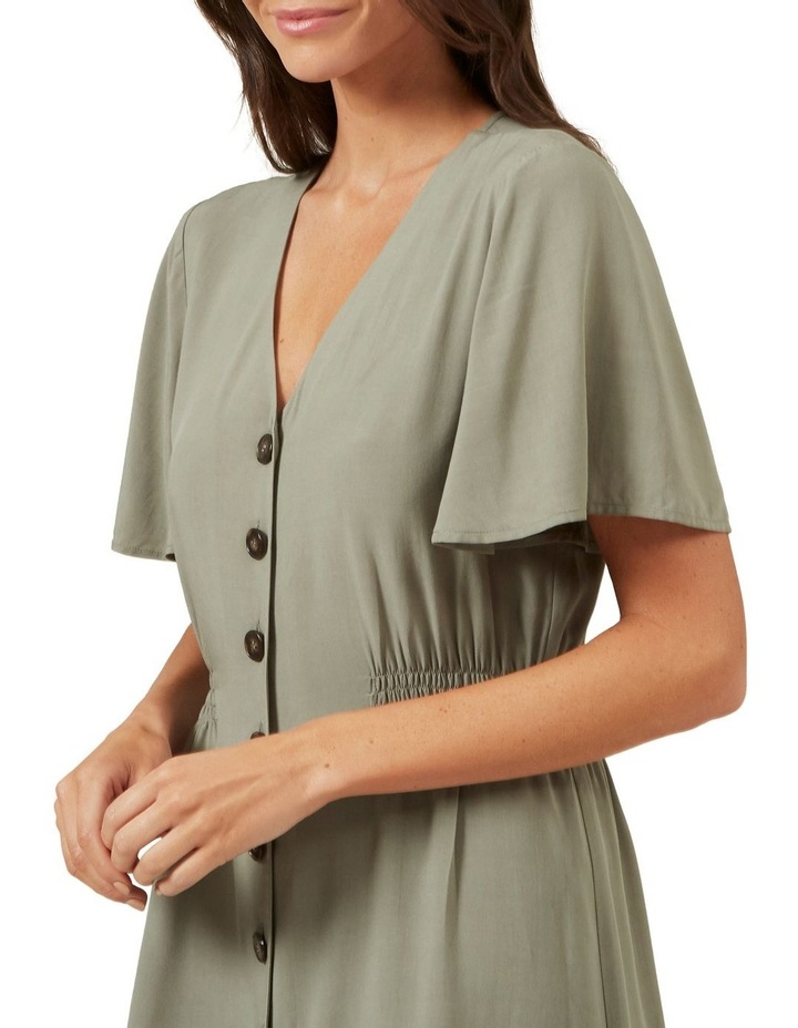 Flutter Sleeve Midi Dress image 4