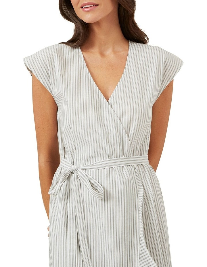 Stripe Wrap Midi Dress image 4