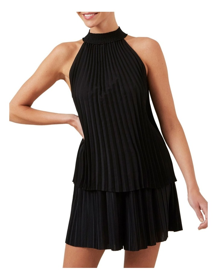 High Neck Pleated Top image 1
