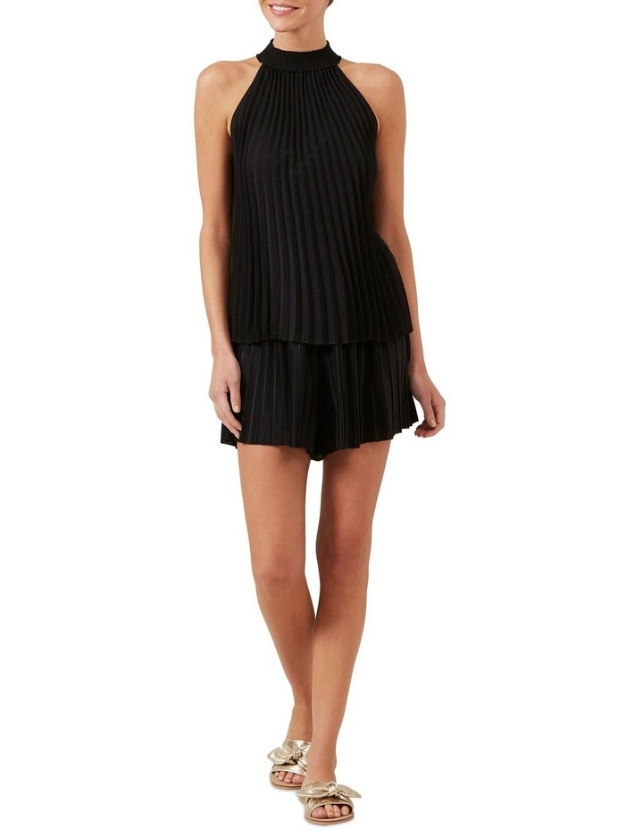 High Neck Pleated Top image 2