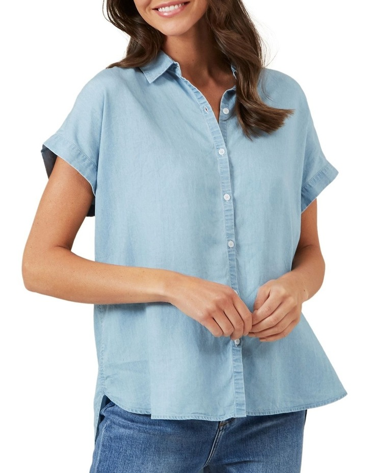 Chambray Popover Short Sleeve Shirt image 1