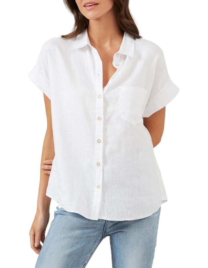 Relaxed Linen Short Sleeve Shirt image 1