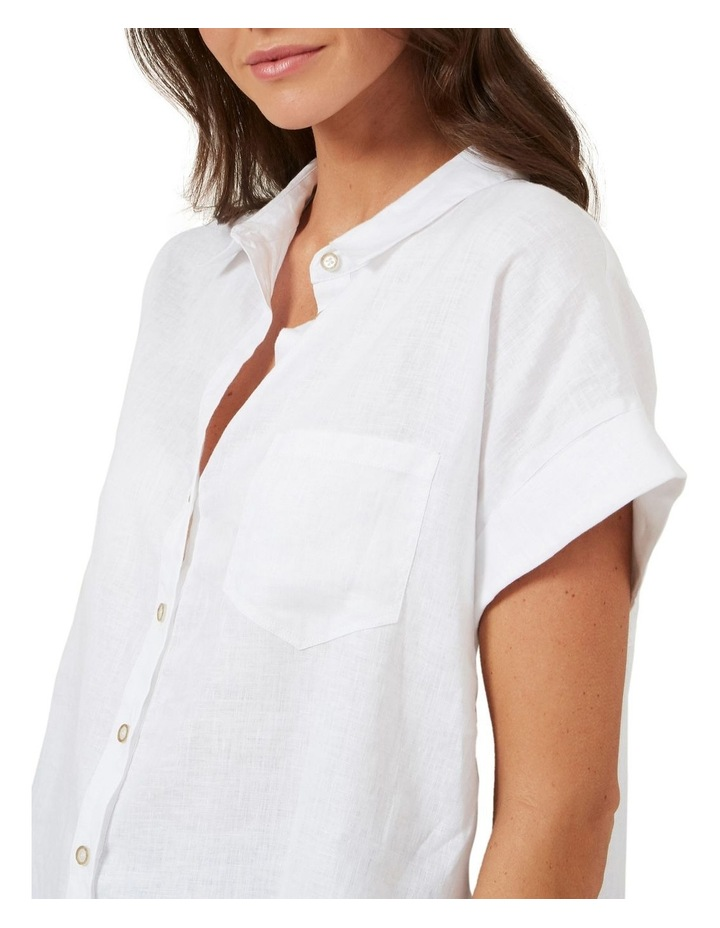 Relaxed Linen Short Sleeve Shirt image 4