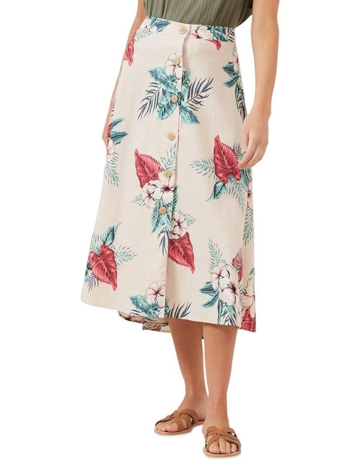 Pink Tropic Linen Skirt image 1