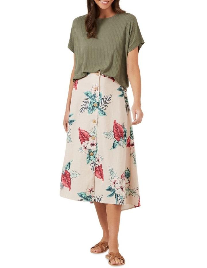Pink Tropic Linen Skirt image 2