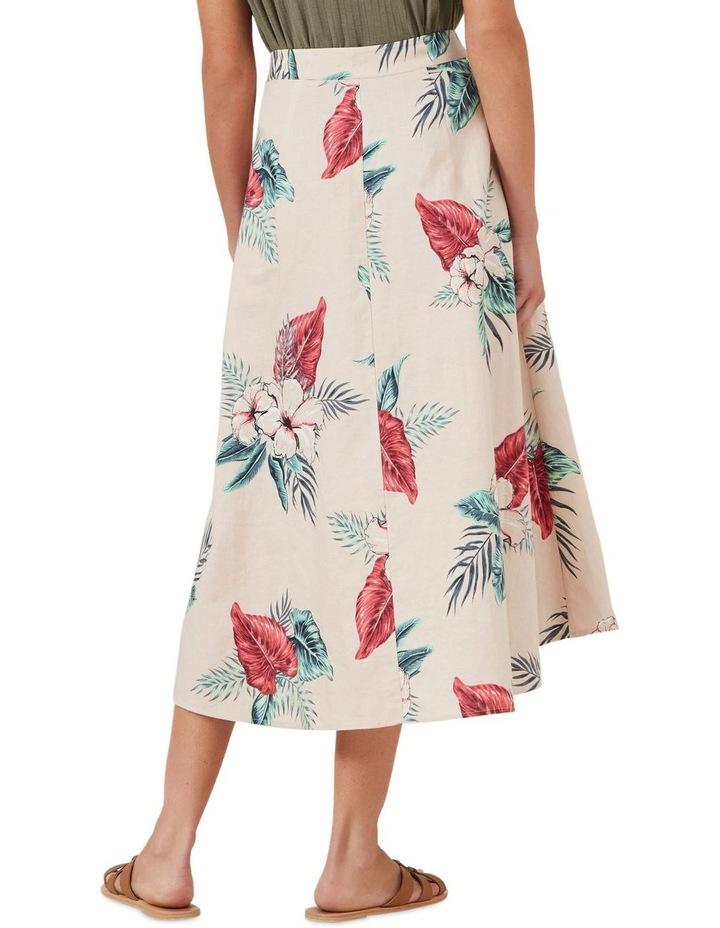 Pink Tropic Linen Skirt image 3