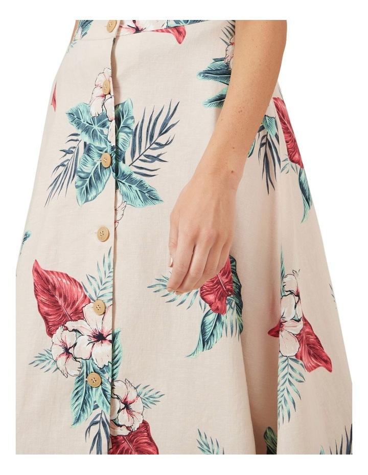 Pink Tropic Linen Skirt image 4