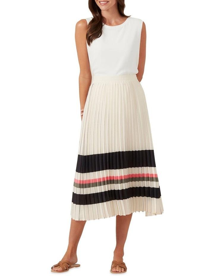 Stripe Pleated Midi Skirt image 2
