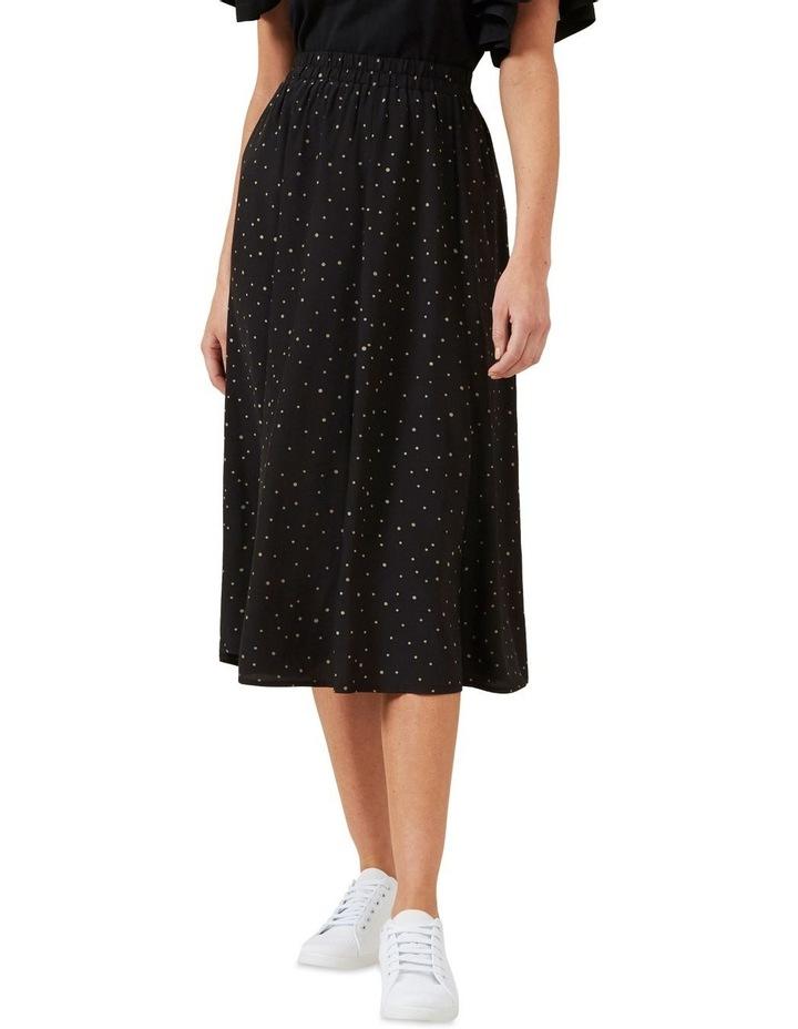 Polka Panelled Midi Skirt image 1