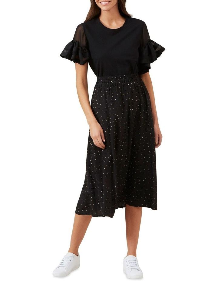 Polka Panelled Midi Skirt image 2