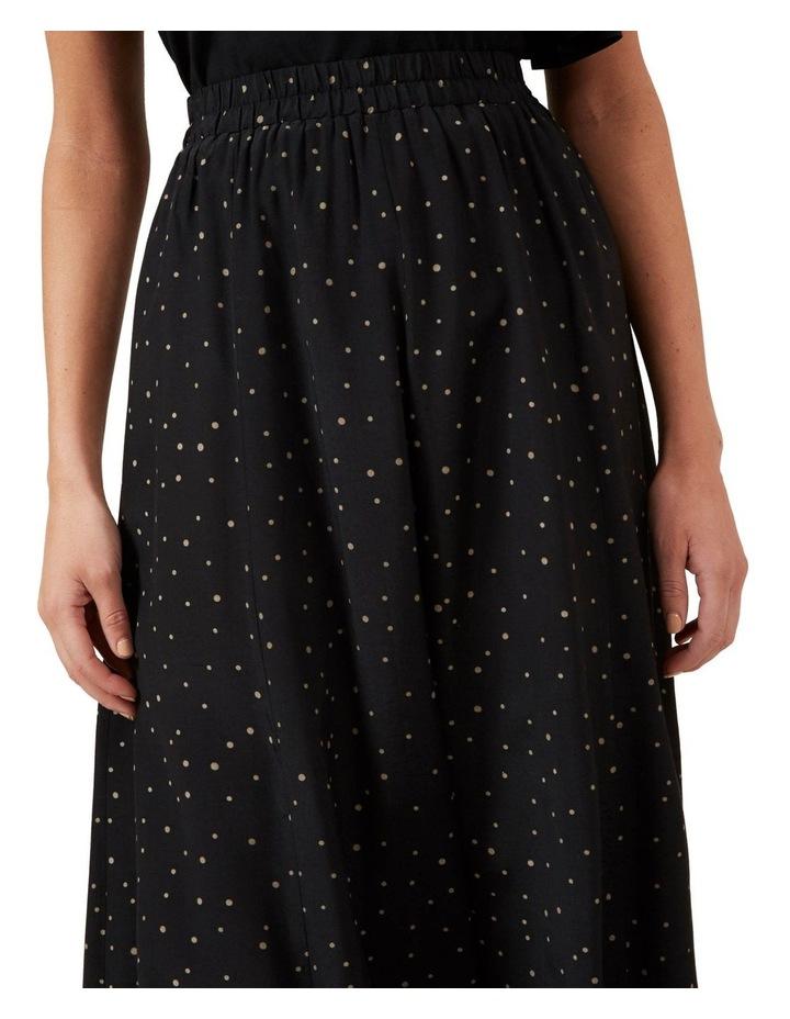 Polka Panelled Midi Skirt image 4