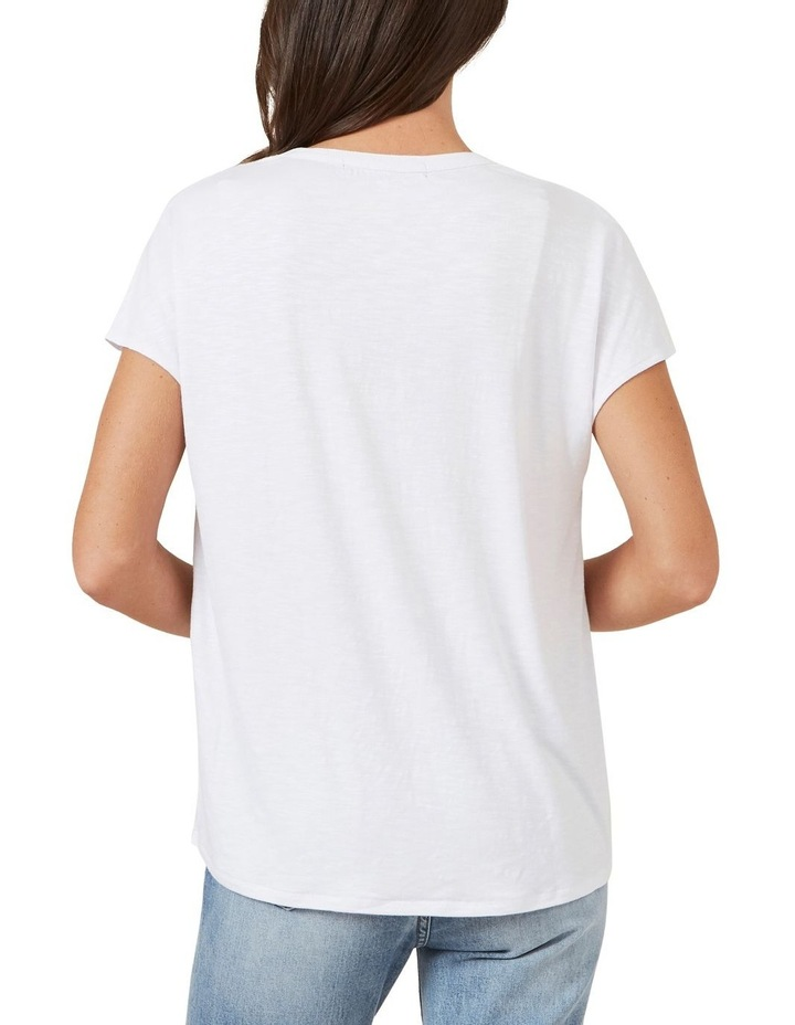V Neck Relaxed Tee image 2