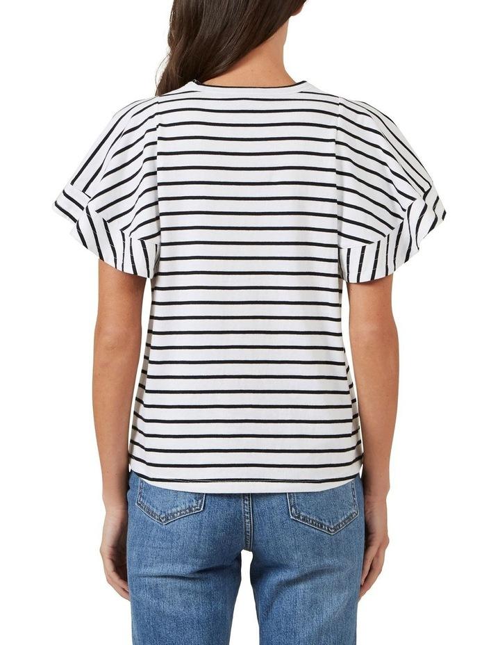 Frill Sleeve Stripe Tee image 2