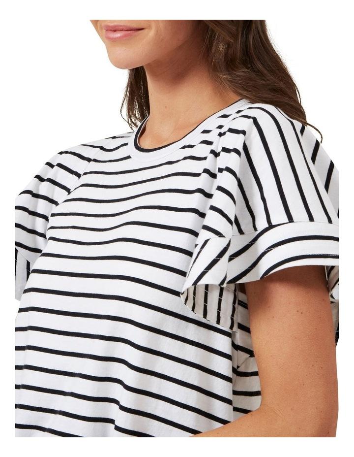 Frill Sleeve Stripe Tee image 3