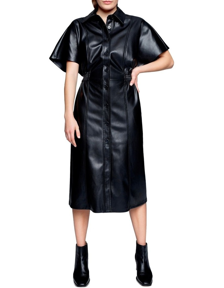 Faux Leather Midi Dress image 1