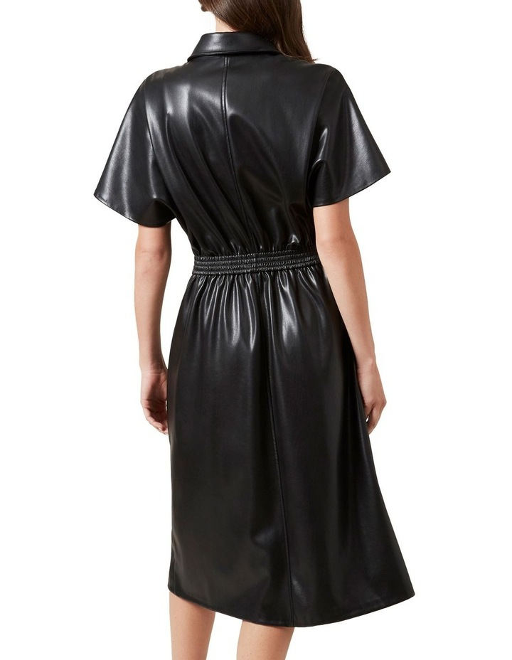 Faux Leather Midi Dress image 3