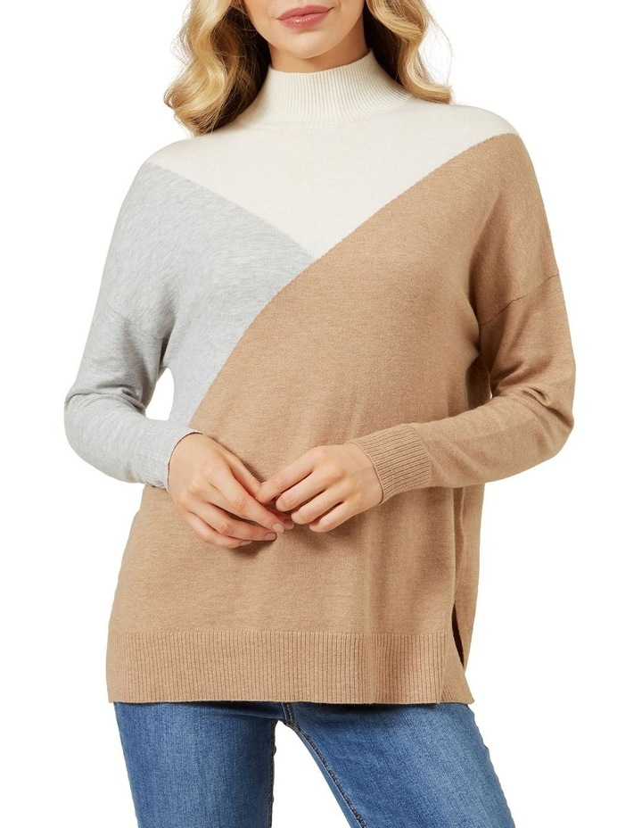 High Neck Geo Knit image 1