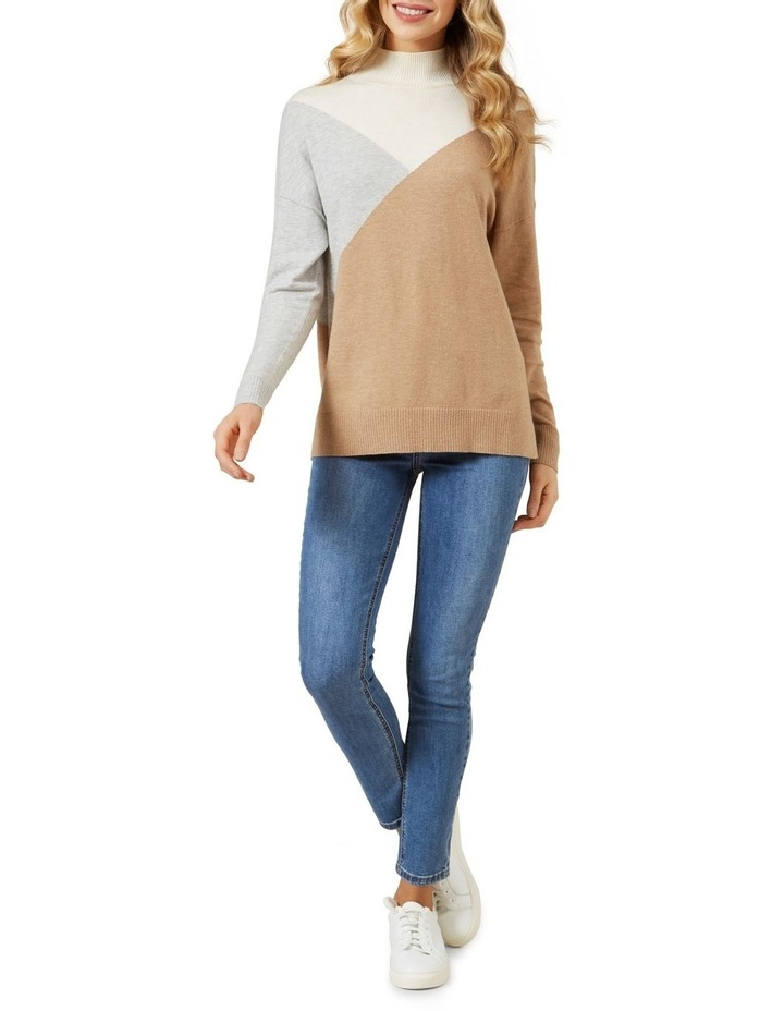 High Neck Geo Knit image 2
