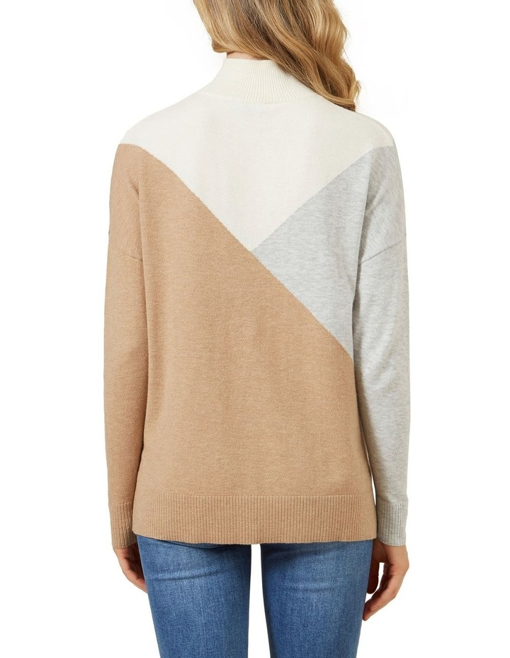 High Neck Geo Knit image 3