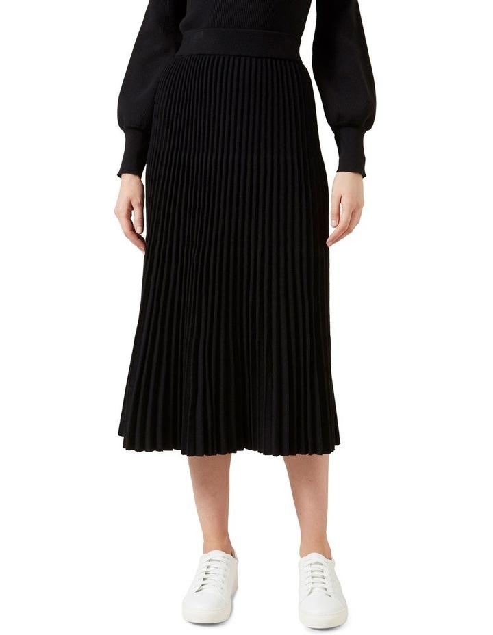 Pleated Knit Midi Skirt image 1