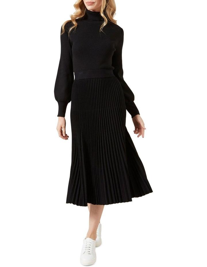 Pleated Knit Midi Skirt image 2