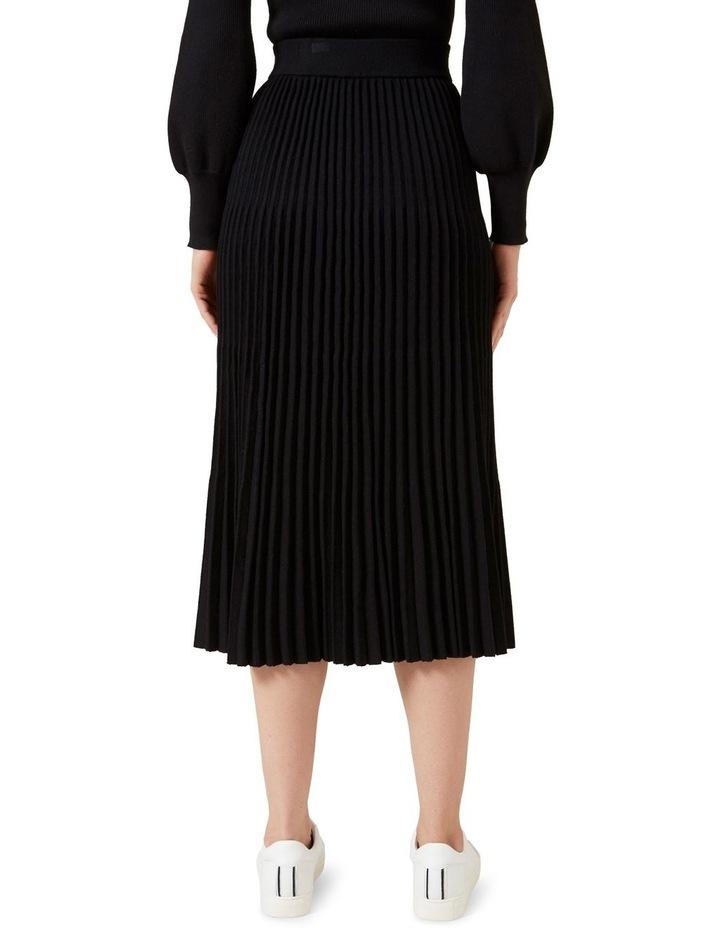 Pleated Knit Midi Skirt image 3