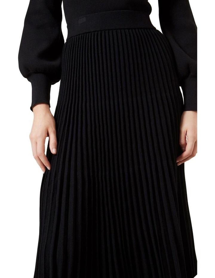 Pleated Knit Midi Skirt image 4