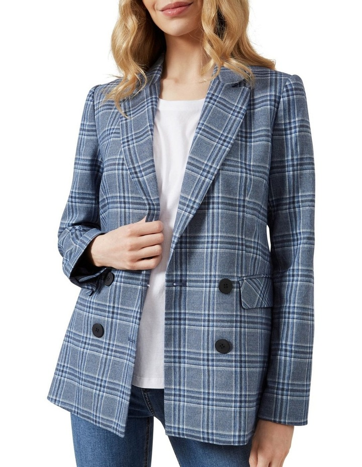 Relaxed Check Blazer image 4