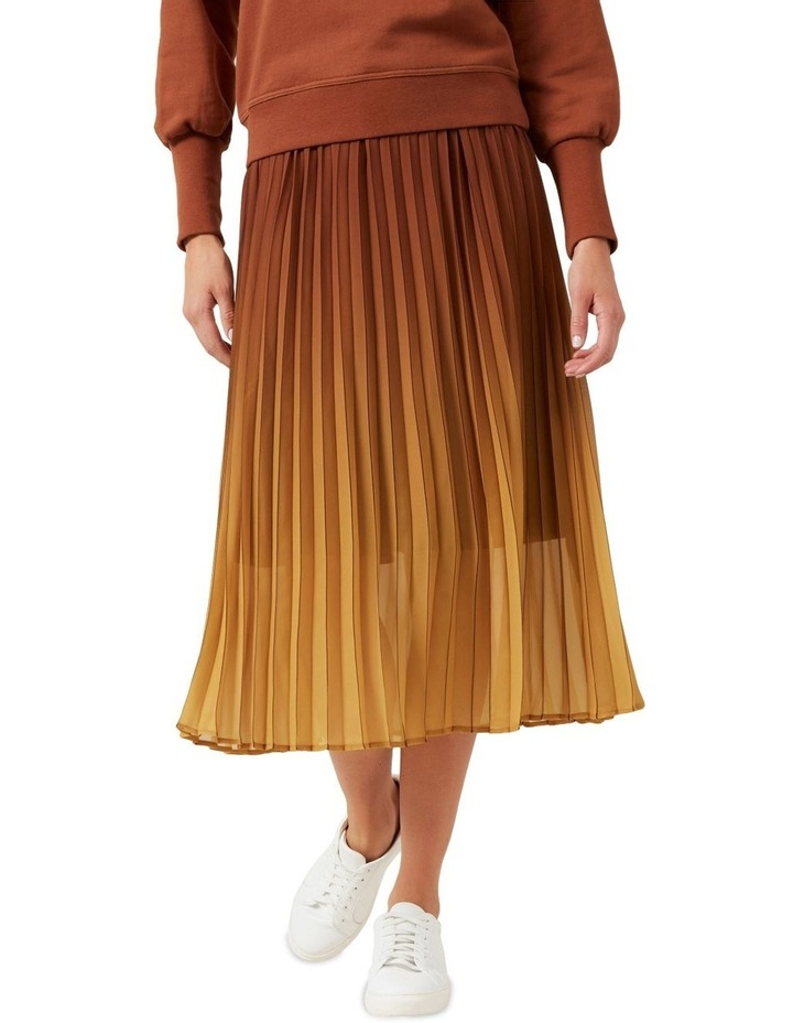 Ombre Pleated Midi Skirt image 1