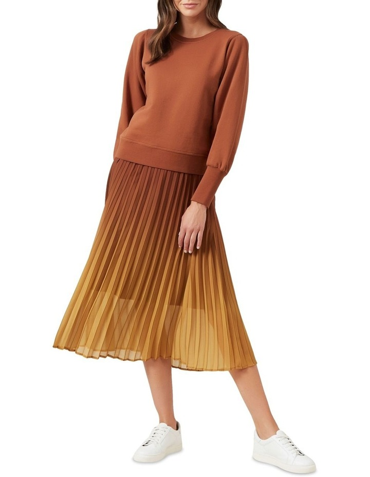 Ombre Pleated Midi Skirt image 2