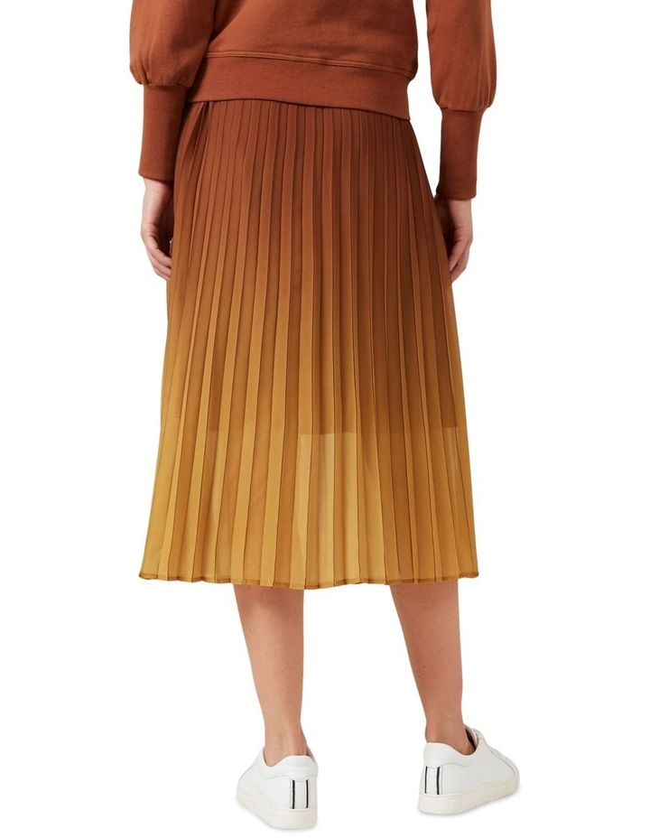 Ombre Pleated Midi Skirt image 3