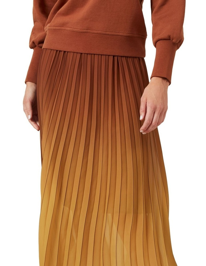 Ombre Pleated Midi Skirt image 4