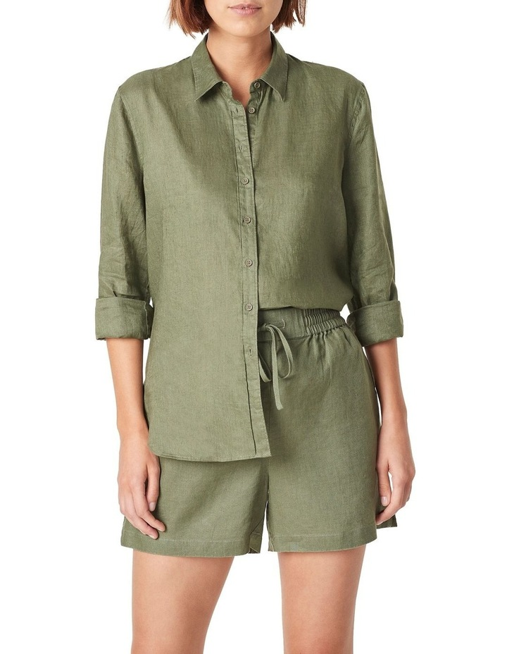 French Linen Relaxed Short image 1
