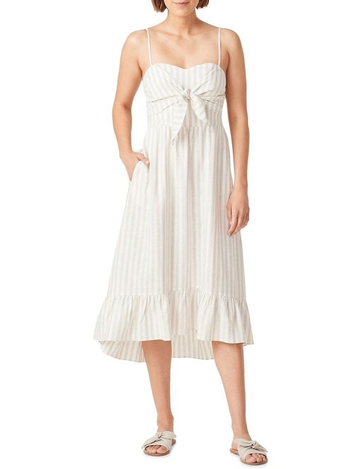 Linen Stripe Midi Dress image 1