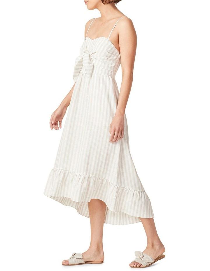 Linen Stripe Midi Dress image 2