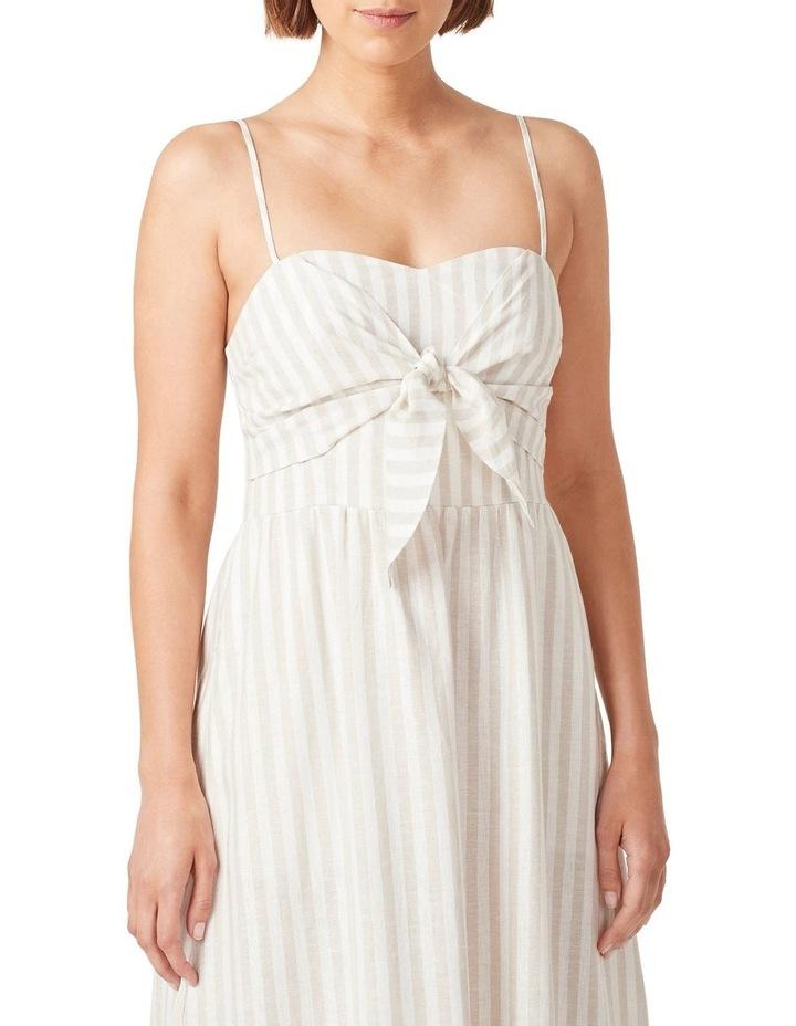 Linen Stripe Midi Dress image 4