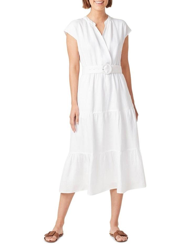 Belted Linen Midi Dress image 1