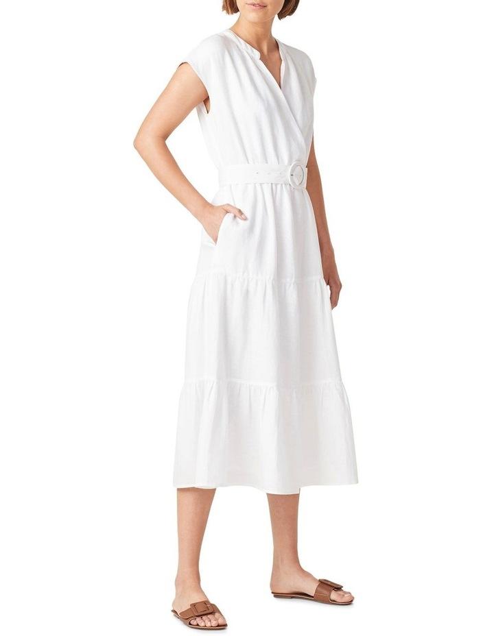 Belted Linen Midi Dress image 2