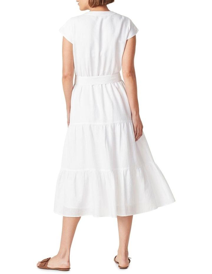 Belted Linen Midi Dress image 3