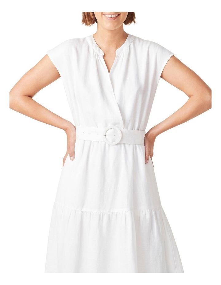 Belted Linen Midi Dress image 4