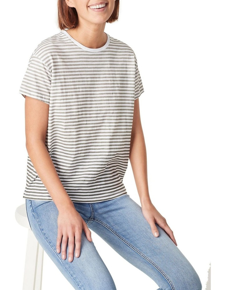 Ombre Stripe Relaxed T Shirt image 1